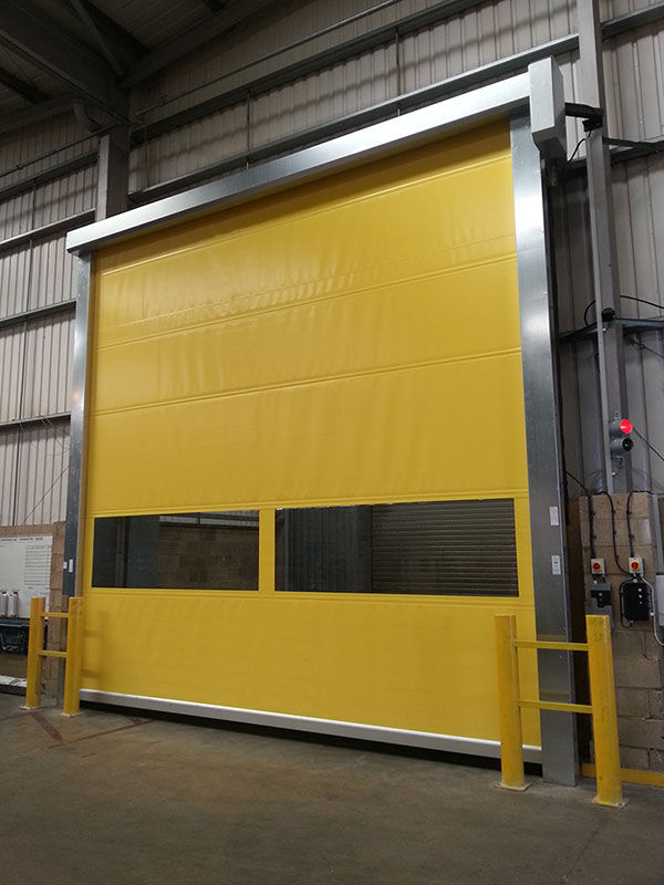 yellow roller door