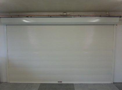 white shutter door