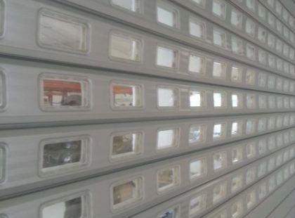 roller shutter door with windows