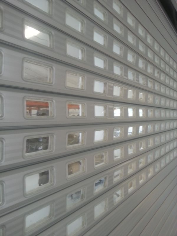 roller shutter door with windows