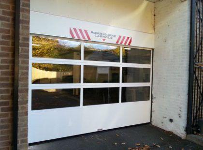 white glazed sectional door