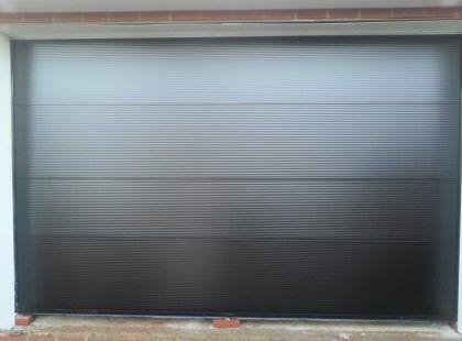 grey industrial door