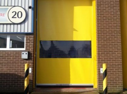High Speed PVC Door yellow