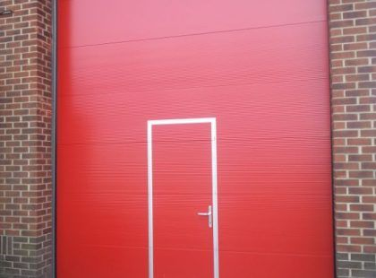 insulated sectional red door