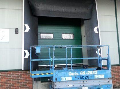 green industrial door