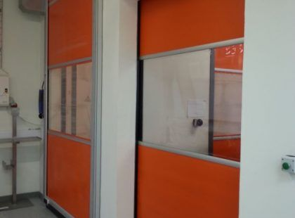 red interior High Speed PVC Door