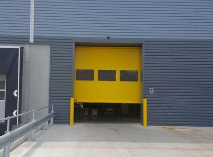 yellow High Speed PVC Door