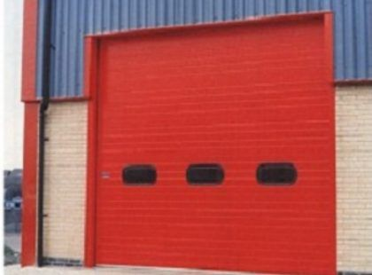 insulated roller red door