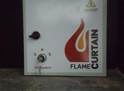 flame curtain control