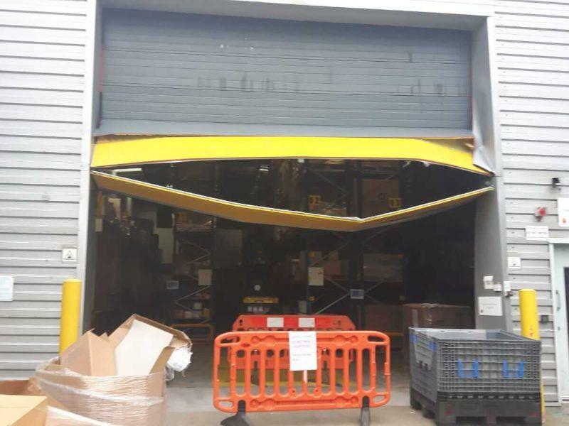Our industrial roller door repairs in action.