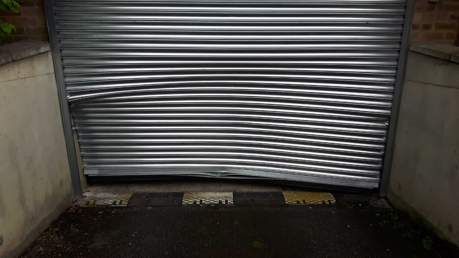 Doors in need of our industrial roller door repairs service.